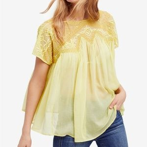 NEW FREE PEOPLE Sunny Days Embellished Beaded Top